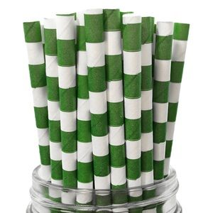 Other - 25 PAPER STRAWS GREEN